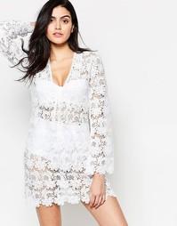Пляжное платье кроше Melissa Odabash Alanna - Кремовый