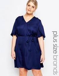 Платье с запахом Carmakoma - Темно-синий