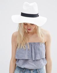 Соломенная шляпа-федора ASOS - Белый