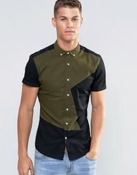 Облегающая рубашка цвета хаки ASOS - Хаки