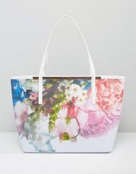 Сумка-шоппер с цветочным принтом Ted Baker - Бледно-синий