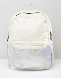 Парусиновый рюкзак с голографическим эффектом ASOS - Серебряный