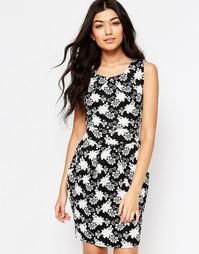 Платье-футляр с принтом Mela Loves London - Черный