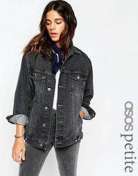 Черная выбеленная куртка ASOS PETITE - Выбеленный черный