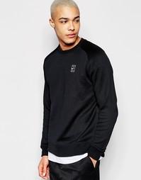 Черный свитшот с круглым вырезом Nike 744010-010 - Черный