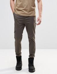 Зауженные брюки-карго цвета хаки ASOS - Хаки