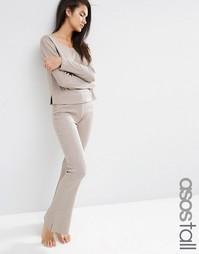 Облегающие расклешенные брюки в рубчик ASOS TALL LOUNGE