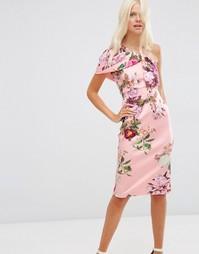 Платье миди с цветочным принтом ASOS - Принт