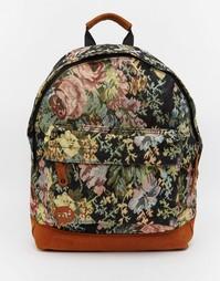 Черный рюкзак с рисунком роз Mi-Pac - Черный