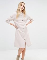 Платье-рубашка с эластичной талией Daisy Street - Экрю