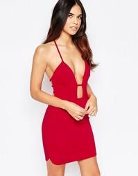 Облегающее платье мини с лямками Oh My Love - Красный