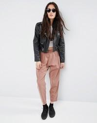 Зауженные брюки-галифе в стиле casual от ASOS - Красно-бурый