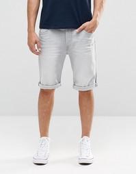 Серые прямые джинсовые шорты Lee - Серая туча