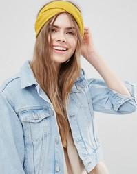 Массивная трикотажная повязка на голову ограниченной серии - Желтый Asos