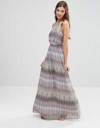 Платье макси с принтом Lavand - Серый