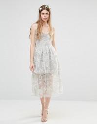Многослойное платье Body Frock Wedding Freesia - Серебряный