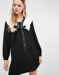 Платье с присборенной юбкой Navy London - Черный