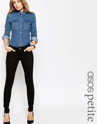 Черные джинсы скинни с классической талией ASOS PETITE Lisbon - Черный