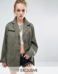 Куртка в стиле милитари Reclaimed Vintage - Оливковый