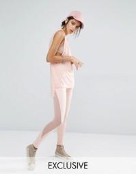 Леггинсы с сетчатыми вставками по бокам Bones - Розовый
