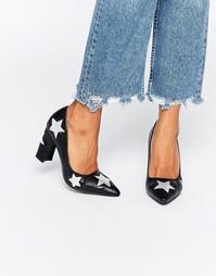 Туфли на каблуке с отделкой звездами Daisy Street - Черный