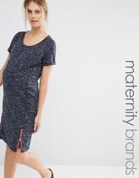 Трикотажное платье Mamalicious - Темно-синий Mama.Licious
