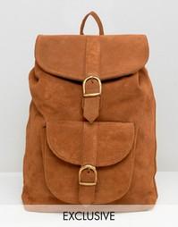 Рюкзак из замши и кожи Reclaimed Vintage - Рыжий