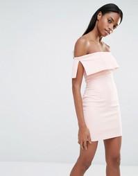 Облегающее платье мини с открытыми плечами Missguided - Blush