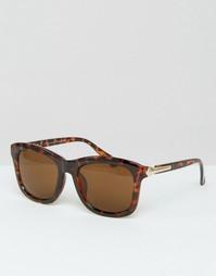 Кофейно-черные солнцезащитные очки Vero Moda - Черный кофе
