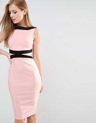 Платье-футляр со вставками колор блок Vesper
