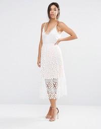 Кружевная юбка с прорезным узором Boohoo