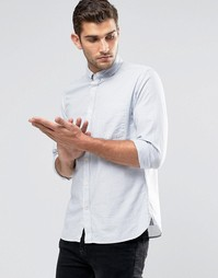 Оксфордская рубашка в полоску Jack & Jones Premium - Кашемировый синий