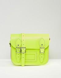 Маленькая сумка‑сэтчел The Leather Satchel Company - Неоновый желтый