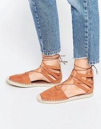 Светло-коричневые эспадрильи Head Over Heels By Dune - Tan mf