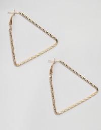 Серьги в форме треугольников Reclaimed Vintage - Золотой