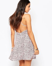 Платье с открытой спинкой Goldie Switch Off - Мульти
