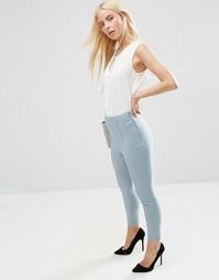 Укороченные зауженные брюки ASOS - Шалфей