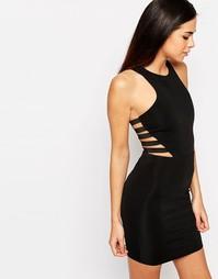 Облегающее платье с отделкой по бокам Glamorous - Черный
