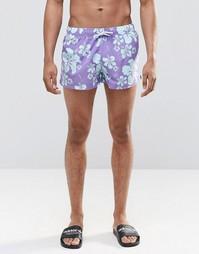 Короткие шорты с принтом Swells - Синий