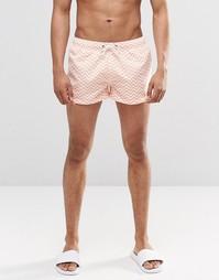 Короткие шорты с принтом зигзаг Swells - Оранжевый