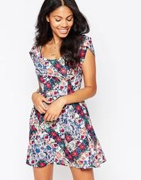 Платье с цветочным принтом Love - Мульти