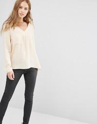 Блузка с карманом Y.A.S Fan - Кремовый