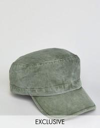 Кепка цвета хаки в армейском стиле Reclaimed Vintage - Зеленый
