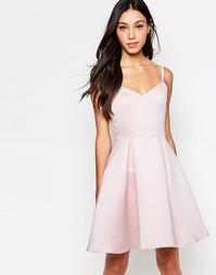 Короткое приталенное платье на бретельках Girls On Film