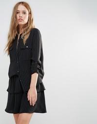 Рубашка Y.A.S Silla - Черный в полоску