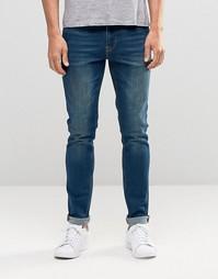 Зауженные синие джинсы ASOS - Indigo - индиго