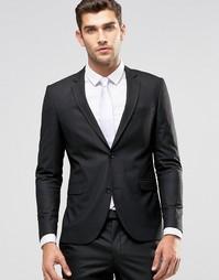 Черный облегающий пиджак Jack & Jones Premium - Черный