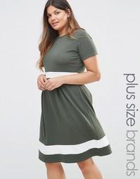 Короткое приталенное платье с контрастными вставками Praslin Plus