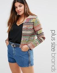 Куртка в полоску с ацтекским принтом Alice & You - Мульти