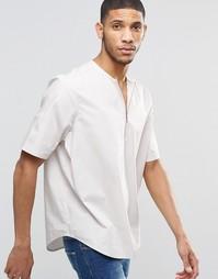 Рубашка песочного цвета с молнией спереди ASOS - Stone